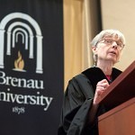Eleanor Clift speaks to the graduating students of the Brenau University undergraduate and graduate program during commencement Saturday.